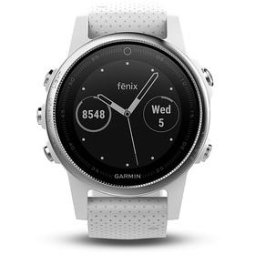 GARMIN fénix 5S Silver  White band