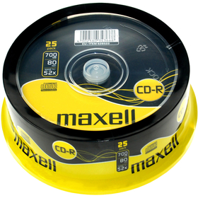 MAXELL CD-R 700MB 52x 25SP