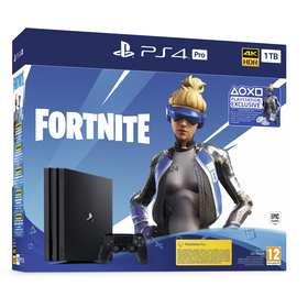SONY PS4 Pro 1TB black+FORTNITE